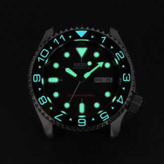007 Dual Time Black – Luminous Aquaris
