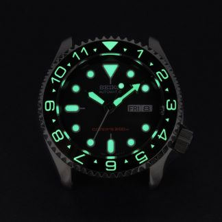 007 Dual Time Black – Luminous Green