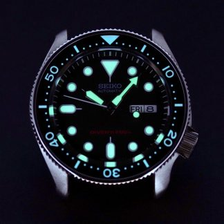 DLW Ceramic Insert – SKX Black – Luminous Aqua