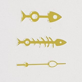 Gold Fishbone Hand Set